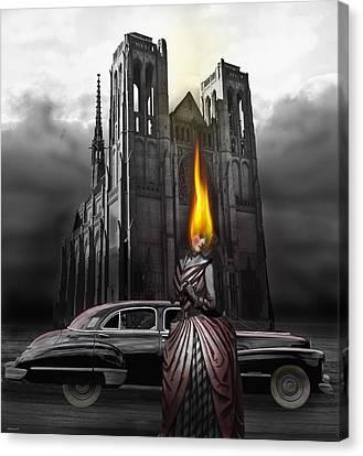 The Dark Angel Canvas Print by Larry Butterworth