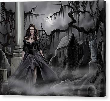 The Dark Caster Comes Canvas Print by James Christopher Hill