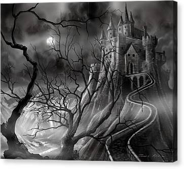 The Dark Castle Canvas Print by James Christopher Hill