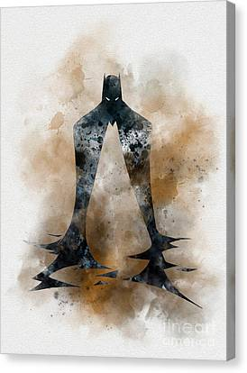 The Dark Knight Detective  Canvas Print by Rebecca Jenkins