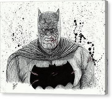 The Dark Knight Canvas Print by Wave Art