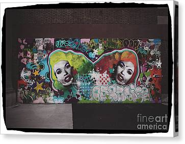 Canvas Print featuring the photograph The Dark Side -  Graffiti by Colleen Kammerer