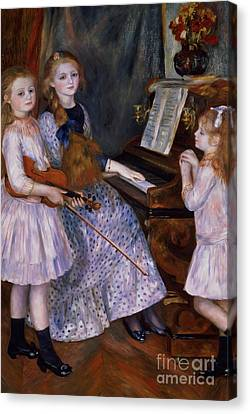 The Daughters Of Catulle Mendes At The Piano, 1888 Canvas Print