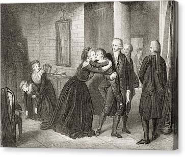 The Dauphin Of France Is Separated Canvas Print
