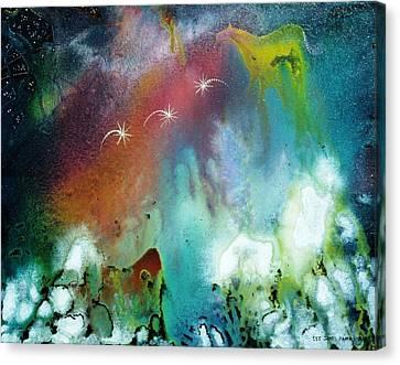 The Dawn Horse Canvas Print by Lee Pantas