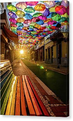 The Dawn Of A Colorful Day Canvas Print
