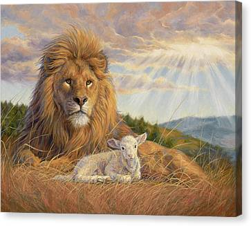 Lamb Canvas Print - The Dawning Of A New Day by Lucie Bilodeau