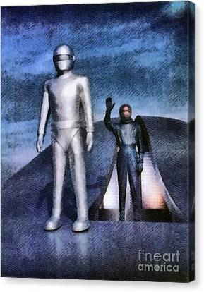 The Day The Earth Stood Still Canvas Print by John Springfield