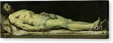 The Dead Christ On His Shroud Canvas Print