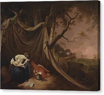 The Dead Soldier  Canvas Print by Joseph Wright