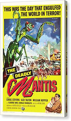The Deadly Mantis 1957 Canvas Print by Mountain Dreams