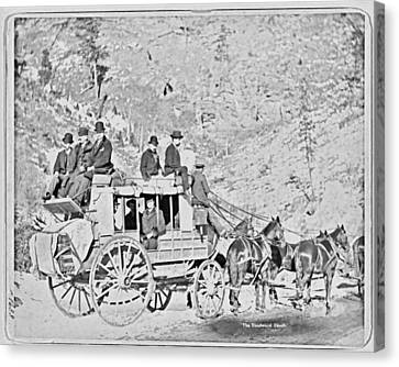 The Deadwood Coach Canvas Print by John Feiser