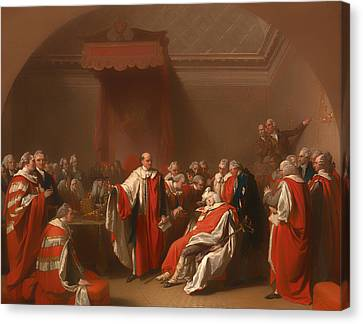 The Death Of Chatham - William Pitt 1st Earl Of Chatham Canvas Print by Mountain Dreams