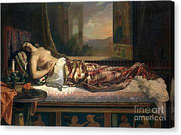 The Death Of Cleopatra Canvas Print by German von Bohn