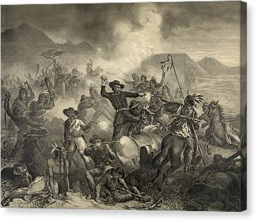 The Death Of General Custer At The Canvas Print