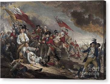The Death Of General Warren At The Battle Of Bunker Hill, 17th June 1775 Canvas Print by John Trumbull