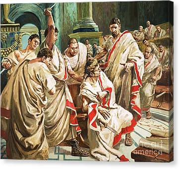 The Death Of Julius Caesar  Canvas Print by C L Doughty