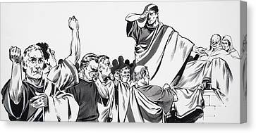 Orator Canvas Print - The Death Of Julius Caesar by English School