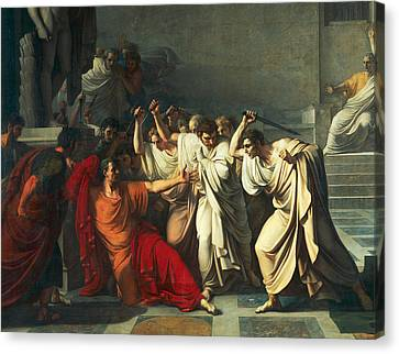 The Death Of Julius Caesar Canvas Print by Vincenzo Camuccini