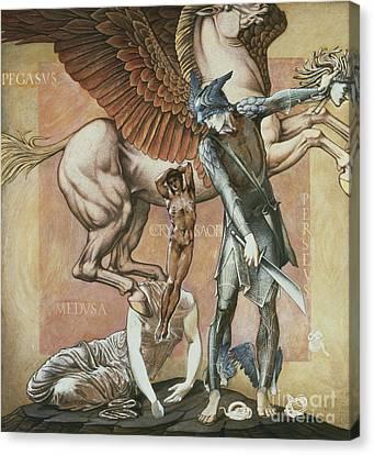 The Death Of Medusa I Canvas Print by Edward Coley Burne-Jones