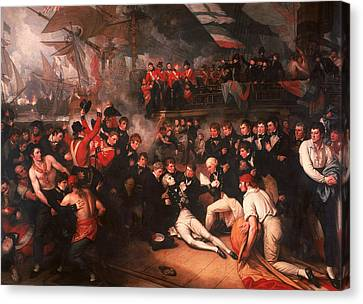 The Death Of Nelson Canvas Print by Benjamin West
