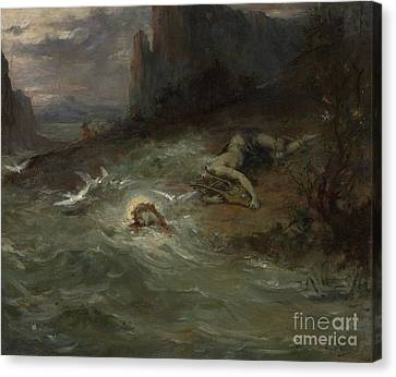 The Death Of Orpheus Canvas Print by Henri Leopold Levy