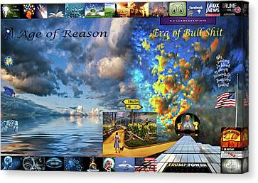 The Death Of Reason - How The Wizard Won Canvas Print by Steve Harrington