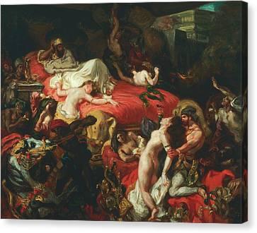 The Death Of Sardanapalus Canvas Print