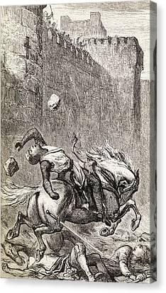 The Death Of Simon De Montfort After Canvas Print