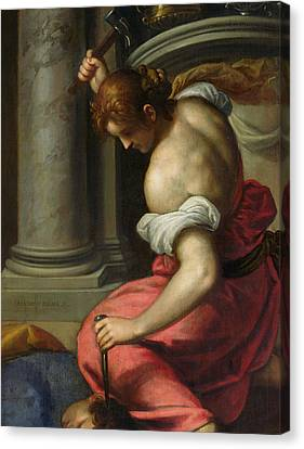 The Death Of Sisera Canvas Print by Palma Il Giovane