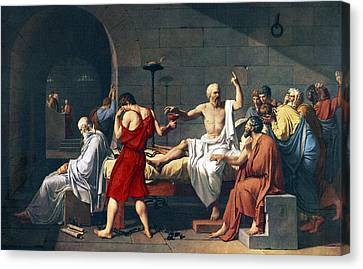 The Death Of Socrates, 1787 Artwork Canvas Print by Sheila Terry