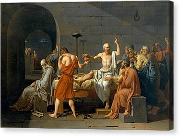 Greece Canvas Print - The Death Of Socrates - Jacques-louis David  by War Is Hell Store