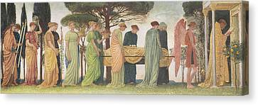 Medieval Temple Canvas Print - The Death Of The Year by Walter Crane