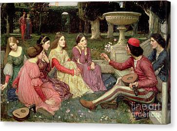 The Decameron Canvas Print by John William Waterhouse