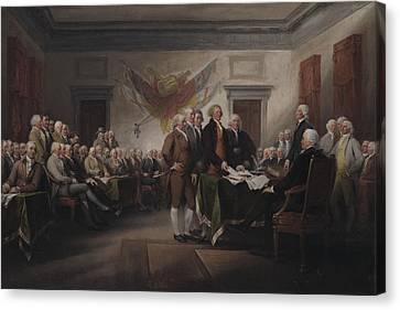 The Declaration Of Independence, July 4, 1776 Canvas Print