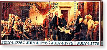 The Declaration Of Independence  Canvas Print by Lanjee Chee