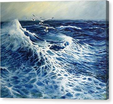 The Deep Blue Sea Canvas Print by Eileen Patten Oliver
