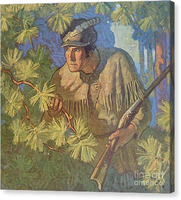 The Deerslayer  Canvas Print by Newell Convers Wyeth