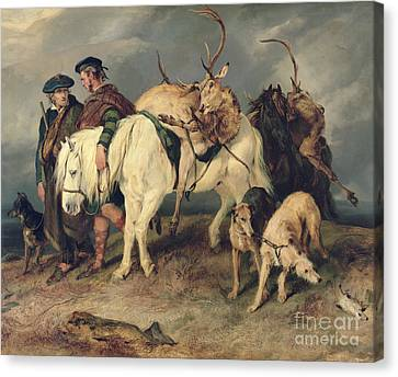 Scottish Dog Canvas Print - The Deerstalkers Return by Sir Edwin Landseer