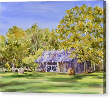 The Delaune Barn Canvas Print by Dana Mosby