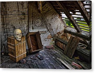 Old School Houses Canvas Print - The Demise Of Mr Potter by John Haldane