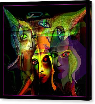 Horrible Canvas Print -  The  Demons  Angels  - 214 by Irmgard Schoendorf Welch