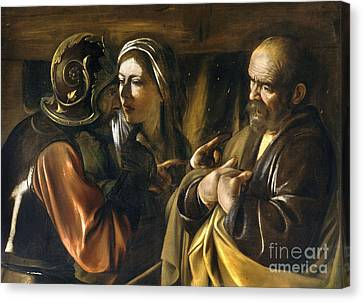 The Denial Of Saint Peter Canvas Print by MotionAge Designs