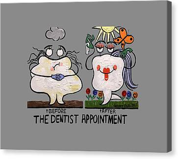 The Dentist Appointment T-shirt Canvas Print by Anthony Falbo