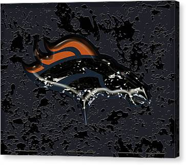 The Denver Broncos 1a Canvas Print by Brian Reaves