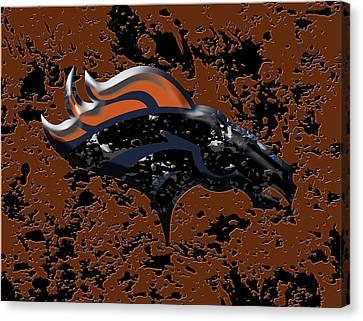 The Denver Broncos 1b Canvas Print by Brian Reaves