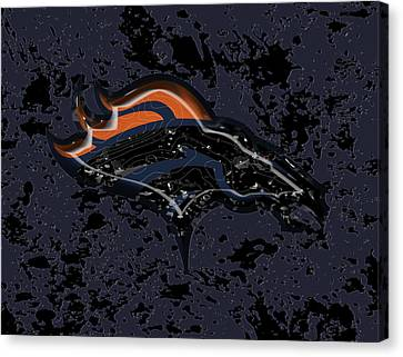 The Denver Broncos  Canvas Print by Brian Reaves