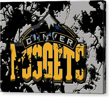 The Denver Nuggets 1a Canvas Print by Brian Reaves