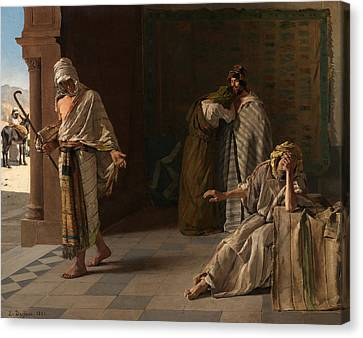 The Departure Of The Prodigal Son Canvas Print by Edouard de Jans