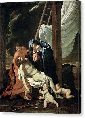 The Deposition Canvas Print by Nicolas Poussin